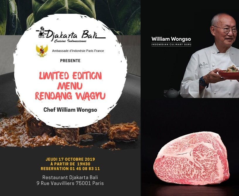 Limited edition Rendang Wagyu by William Wongso
